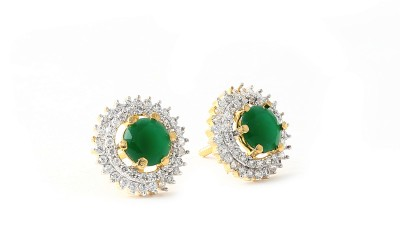 Eloiny Sea Green Cubic Zirconia Alloy Stud Earring