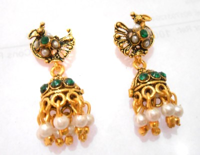 Taj Jewels Sparkeliing Copper Jhumki Earring