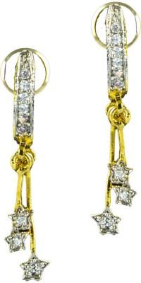 Paradise Sparkle Thread Trendy earring Brass, Copper Drop Earring