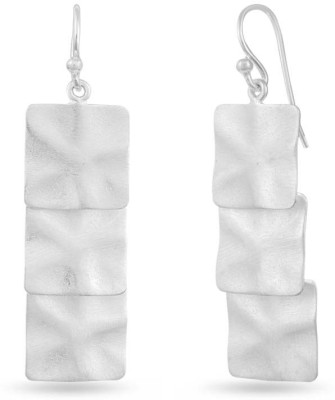 LeCalla Matt Passion Textured Contemporary Silver Earrings Sterling Silver Dangle Earring