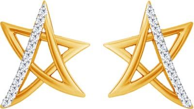 JacknJewel Enchanting Star Yellow Gold 18kt Diamond Stud Earring