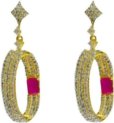 RK Style Dazzling Princess Brass Drop Earring