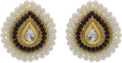 Pearls Cart Alloy Stud Earring