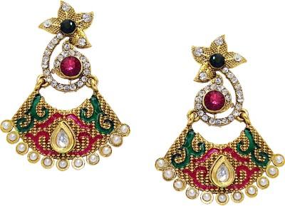 Aarnaa Textured Alloy Chandelier Earring