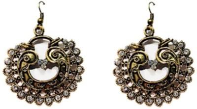 VML Vml White Stone With Golden Designer Earring Alloy Drop Earring