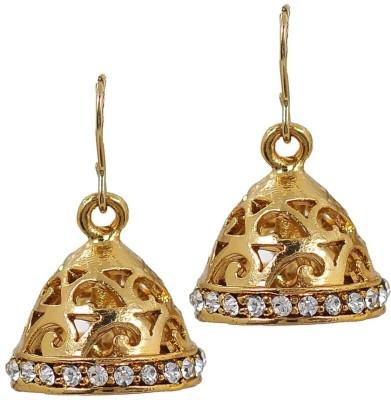 Deco Junction Ethnic Small Golden Jhumki Alloy Jhumki Earring
