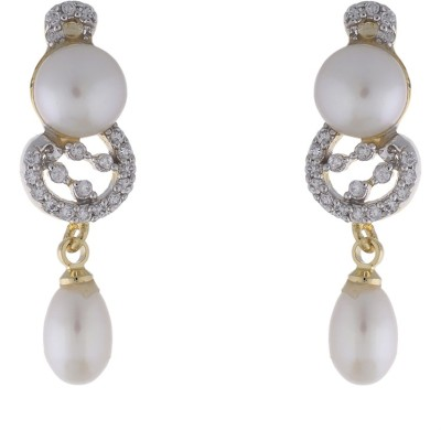 Jewel Planet Simple and Beautiful Pearl Alloy Drop Earring