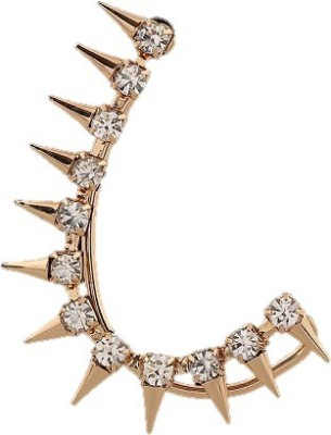 The Sparkle Connection Spiked sparkle Alloy Cuff Earring