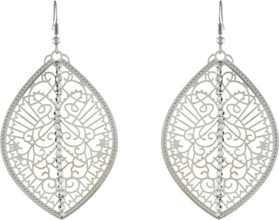 One Stop Fashion Designer Leaf Shape Silver Colour Alloy Dangle Earring