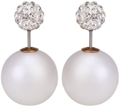 Amour Latest Double Sided Crystal Alloy Stud Earring