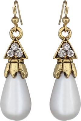 The Gallery Oval Oxidized stunning Zircon Alloy Dangle Earring
