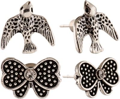 Anokhi Ada Butterfly and Bird Metal Stud Earring