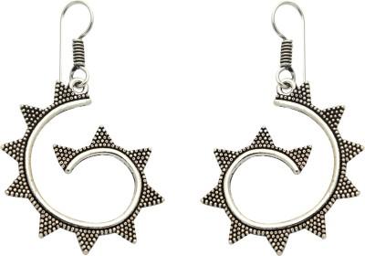 Studiob40 Silver Alloy Designer Drop Earrings Alloy Drop Earring