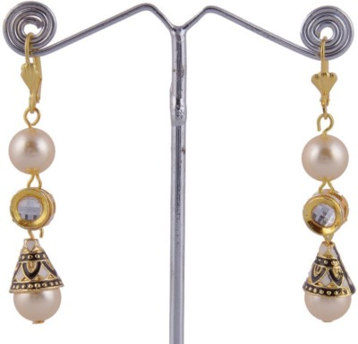 Khandelwal Jewels Fashion Jewellery Pearl Alloy Drop Earring