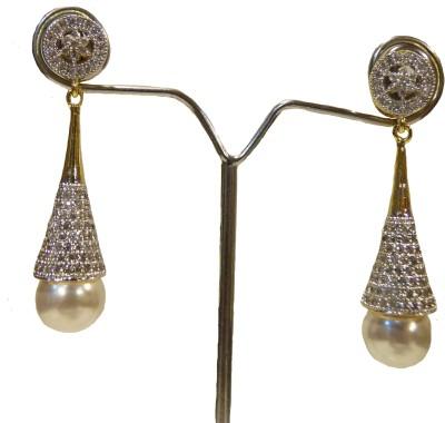 Aakhya EAR11 Diamond Rose Gold Drop Earring