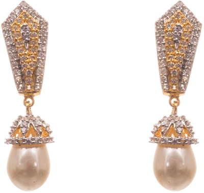 LAHARI ENTERPRISES fashion Pearl, Zircon Alloy Stud Earring