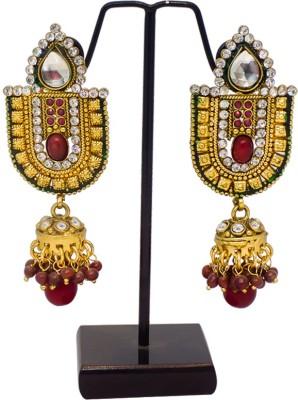 Supreme Art Jewellers Elegant Maroon Color Copper Jhumki Earring