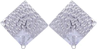 Pink Rose Diamond Look Princess Passion Alloy Stud Earring