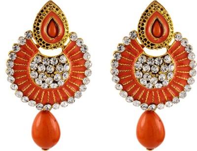 Aahaan Red_JC_01 Alloy Chandelier Earring