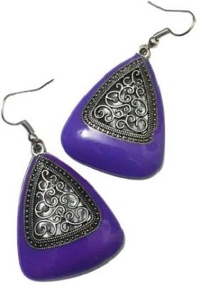 Bling-Bling Purple Triangle Classy Alloy Dangle Earring