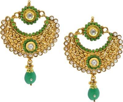 SaloniFashionJewellery Golden Copper, Brass Chandbali Earring