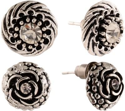 Anokhi Ada Rose and Cyclone Metal Stud Earring