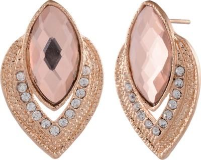 Golden Petals Sparkle P Alloy Stud Earring
