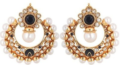 Vanshika Jewels Traditional Bali With Pearl Studded Alloy Chandbali Earring