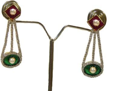 Aakhya EAR13R Diamond Rose Gold Drop Earring