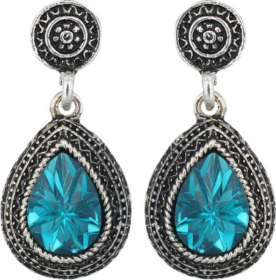 The Gallery Silver Oxidized Alloy Drop Earring
