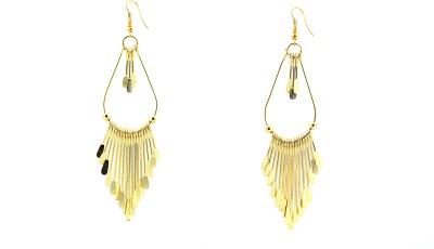 Zidox Gold Grace Metal Dangle Earring