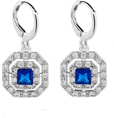 Eterno Fashions AAA Square CZ Cubic Zirconia Alloy Drop Earring
