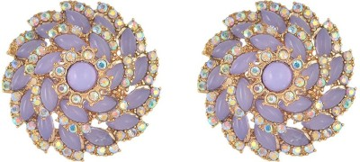 Sparkle Street Lavender Cyclone Alloy, Plastic, Glass Stud Earring