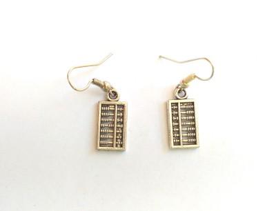 SrinidhiHandiCreations Abacus Metal Dangle Earring