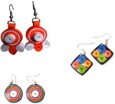 Prajwala Phani Enterprises Quilled Marvel Paper Dangle Earrings Paper Earring Set