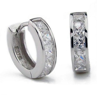 Ruvee Vogue Diamonds Stainless Steel Hoop Earring