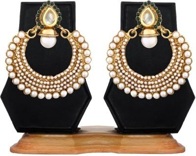 Zaveri Pearls Ethnic Zinc Chandbali Earring