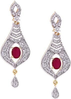 Giftmania America Diamond Coral Coral Brass Drop Earring