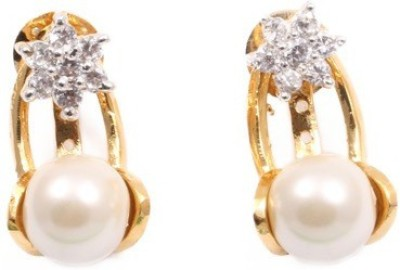 Vanshika Jewels Pearl Studded Alloy Drop Earring
