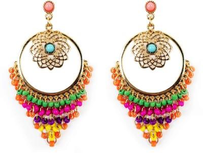 KooKoo Fashion Alloy colorful drop Earring Beads Alloy Drop Earring