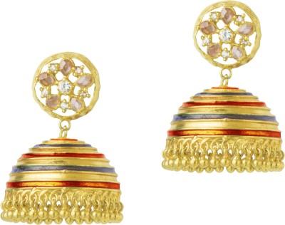 Mehtaphor Lattice Brass Jhumki Earring