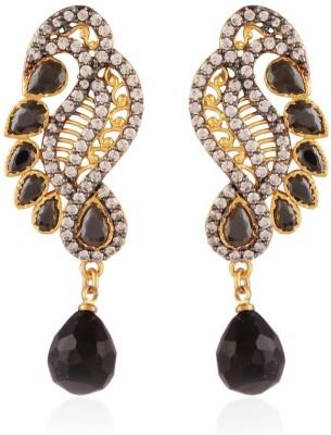I Jewels Jaipur American Diamond Brass Drop Earring