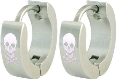 Men Style Skull Design Stainless Steel Hoop Earring