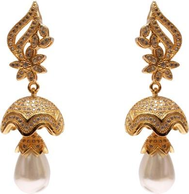 Mata Payals White Desiner Alloy Drop Earring