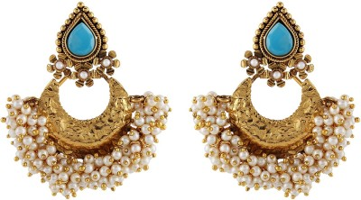 Aadi Creations Golden Grace Copper, Brass Chandbali Earring