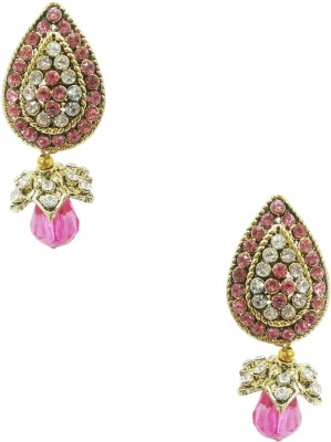 Taruni Taruni Light Pink Drop Earrings. Alloy Drop Earring