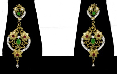 Zaveri Pearls Cubic Zirconia Flawless Brass Chandelier Earring