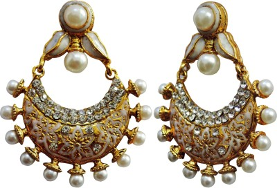 Aura Collection Pious leaves Brass Chandbali Earring
