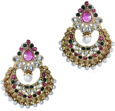 Grand Jewels Mahi1 Emerald Alloy, Brass Chandbali Earring