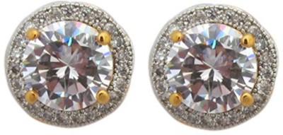 Fashionage Ethnic Delight American Diamond Brass Stud Earring